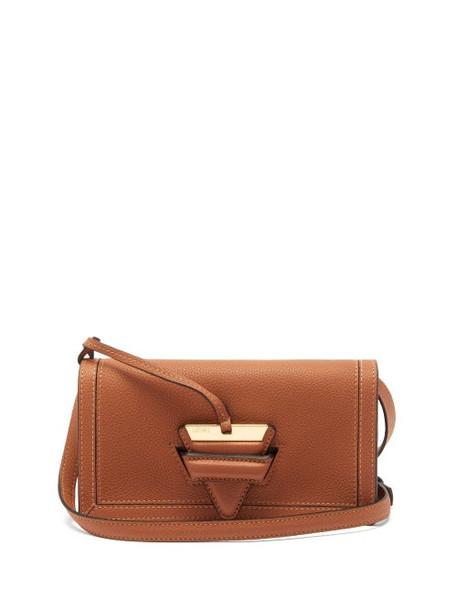 Loewe - Barcelona Mini Leather Cross-body Bag - Womens - Tan