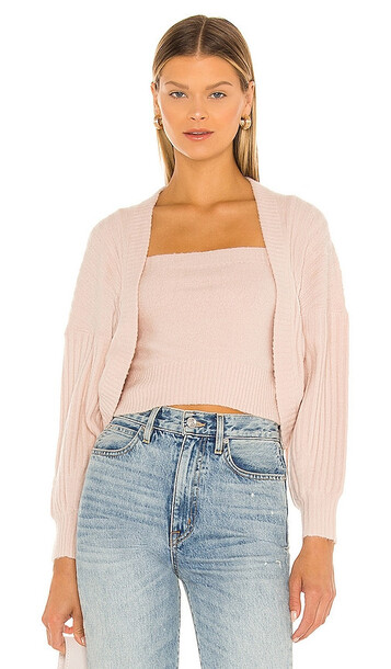 Central Park West Holmes Cardigan in Blush