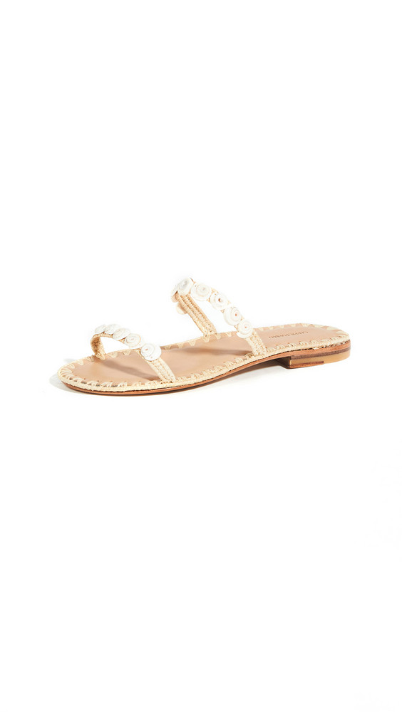 Carrie Forbes Yasmina Shell Slides in natural