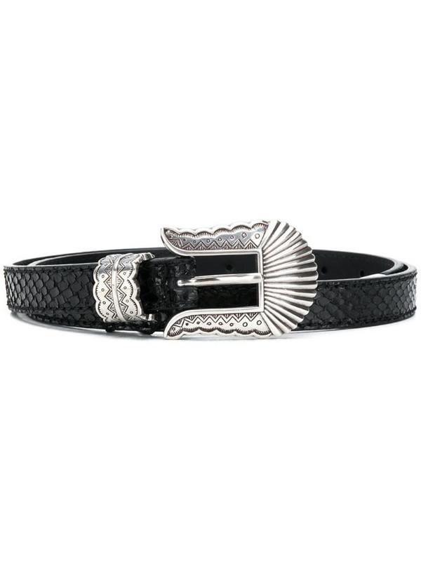 Kate Cate snakeskin effect belt in black