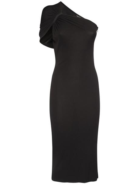 TOM FORD Lightweight Viscose Crepe Jersey Dress in black