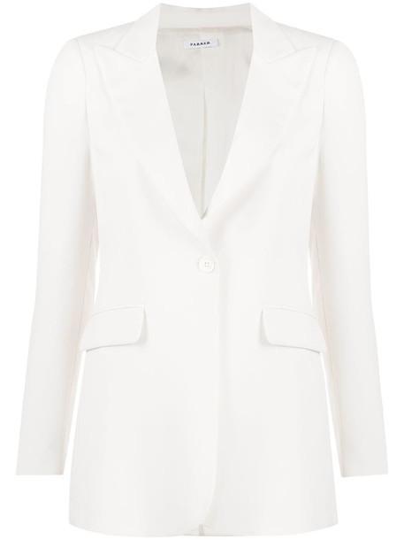 P.A.R.O.S.H. single-breasted blazer in white
