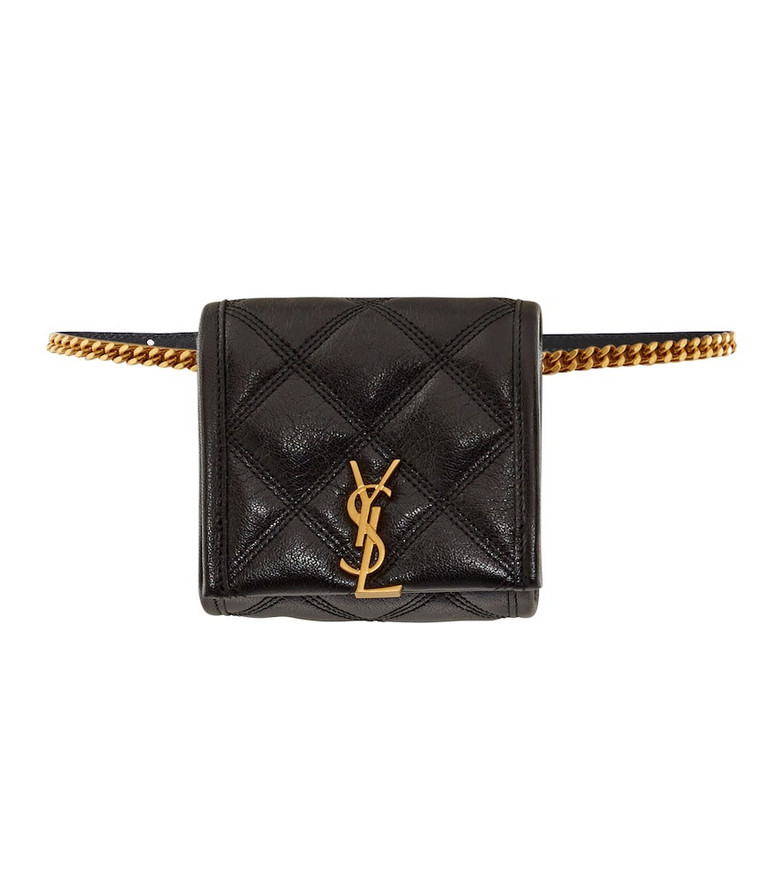 Saint Laurent Baby Becky quilted leather belt bag in black
