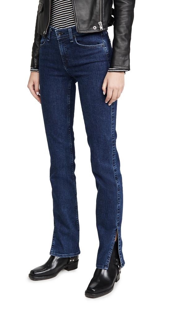 Rag & Bone/JEAN Cate Mid-Rise Skinny Jeans in blue
