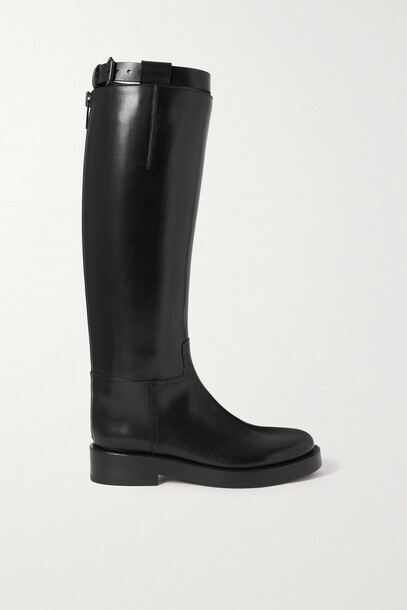 Ann Demeulemeester - Stan Leather Knee Boots - Black