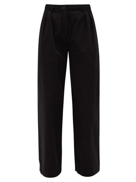 Acne Studios - Pavi Pleated Cotton-twill Straight-leg Trousers - Womens - Black