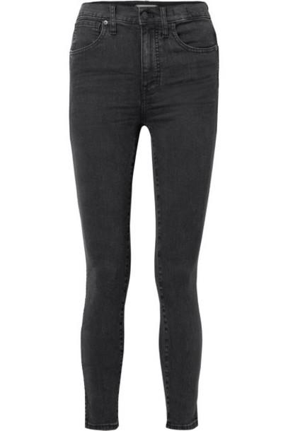 Madewell - High-rise Skinny Jeans - Charcoal