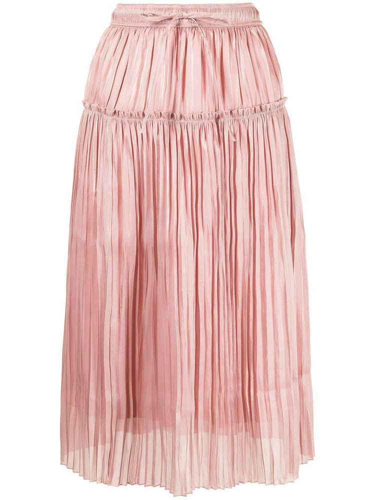 BAPY BY *A BATHING APE® BAPY BY *A BATHING APE® pleated midi skirt - Pink