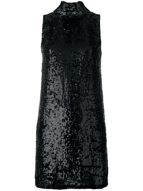 P.A.R.O.S.H. Ginter sequin dress in black