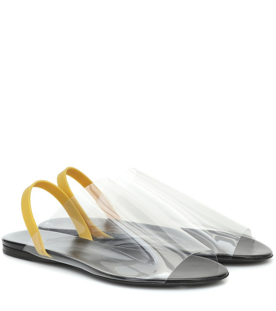 The Row PVC sandals in black