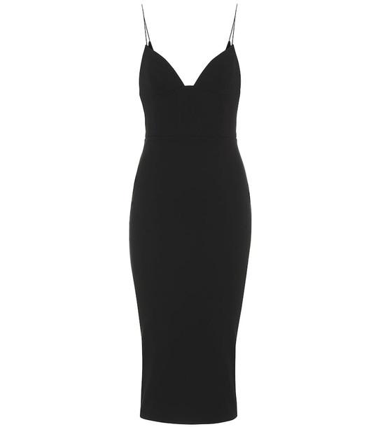 Alex Perry Mercer crêpe dress in black