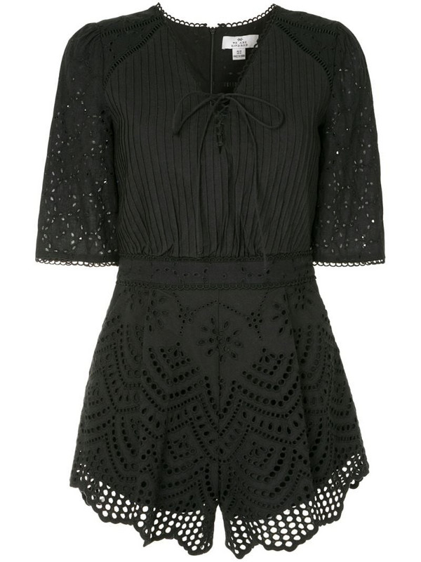We Are Kindred Lua broderie anglaise playsuit in black