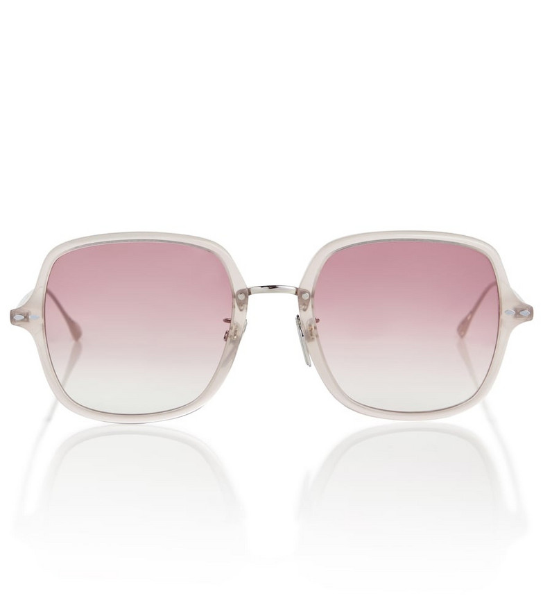 Isabel Marant Oversized square sunglasses in pink