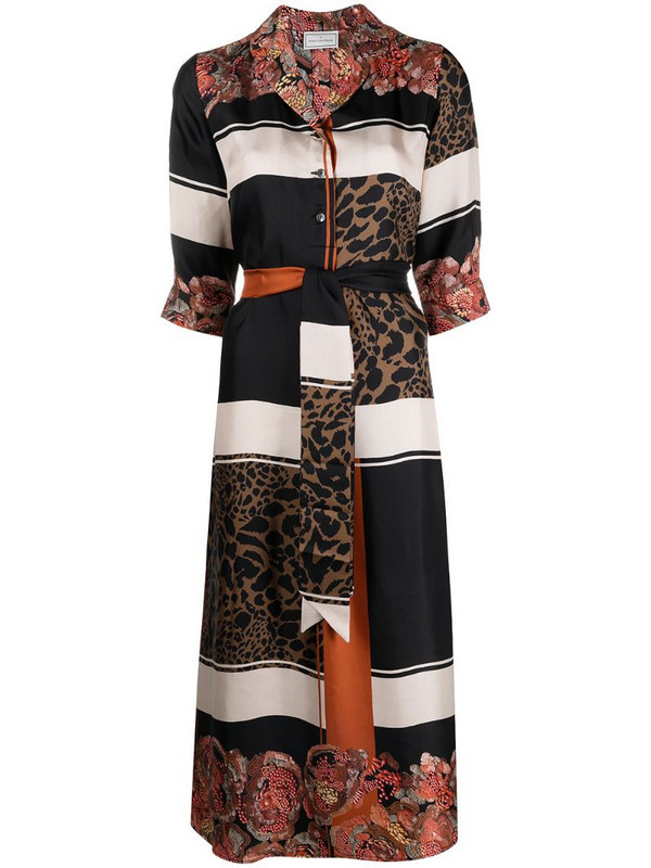 Pierre-Louis Mascia floral-print silk midi dress in neutrals