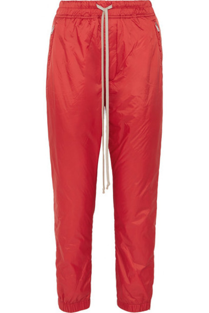 Rick Owens - Nylon Track Pants - Red