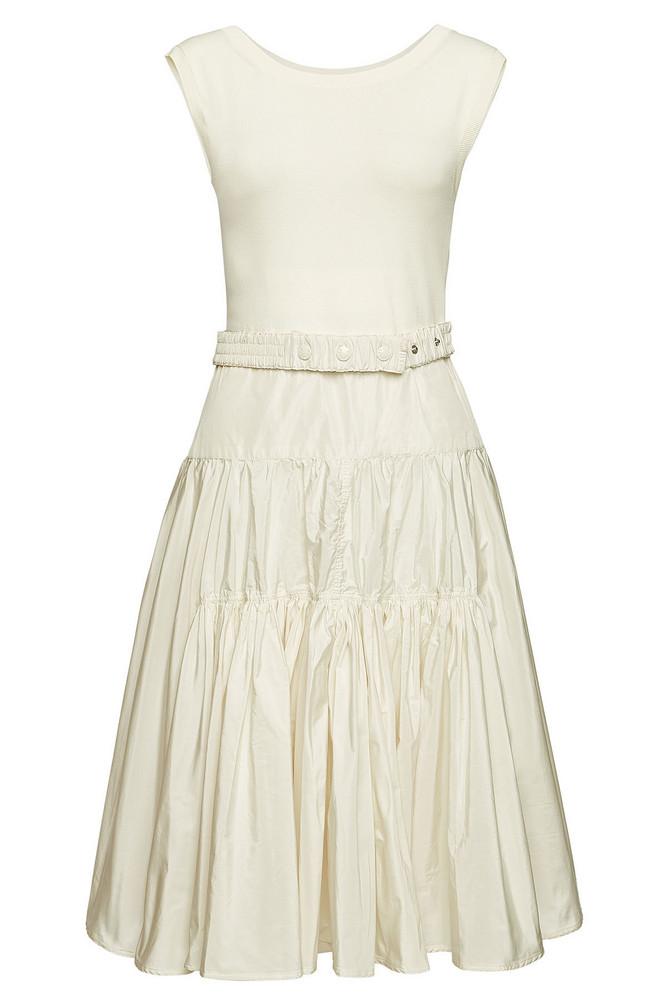 Moncler Sleeveless Dress  in white