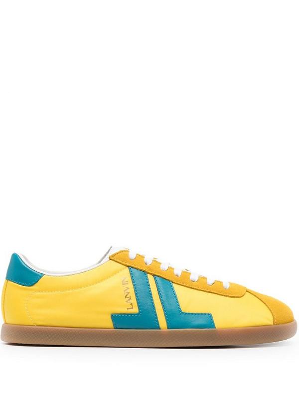 LANVIN Glen low-top sneakers in yellow
