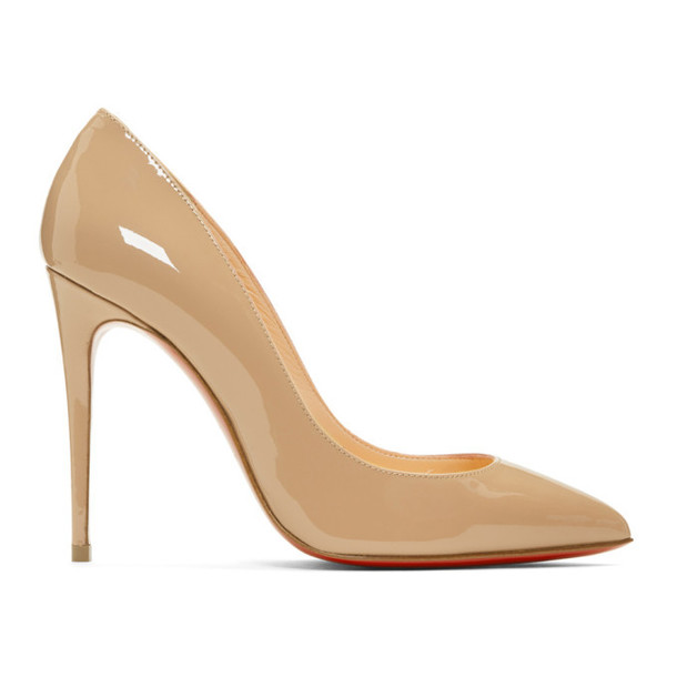 Christian Louboutin Pink Patent Pigalles Follies Heels