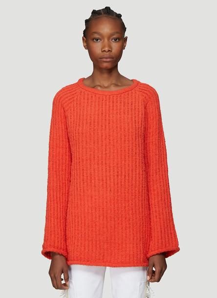 Eckhaus Latta Referee Knit Sweater in Orange size M