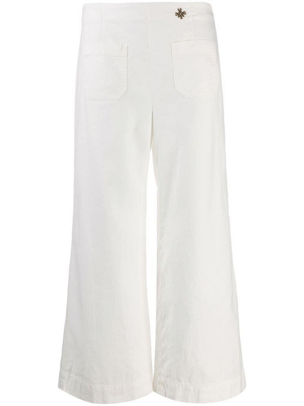 Mr & Mrs Italy cropped trousers in white