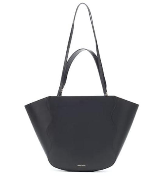 Mansur Gavriel Ocean leather tote in black