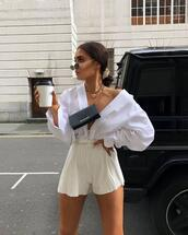 shorts,jumpsuit,outfit,pleaseee help,lookbook,white