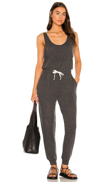 Spiritual Gangster Poppy Jumpsuit in Charcoal in black