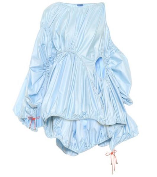 Mugler Gathered minidress in blue