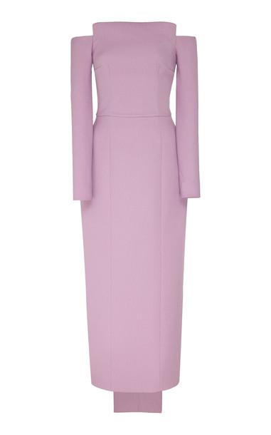 Emilia Wickstead Asymmetric Strapless Crepe Dress Size: 10 in purple
