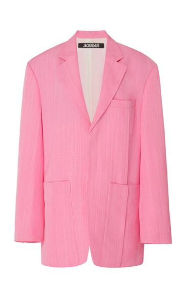 Jacquemus La Veste D'Homme Oversized Menswear Blazer Size: 36 in pink