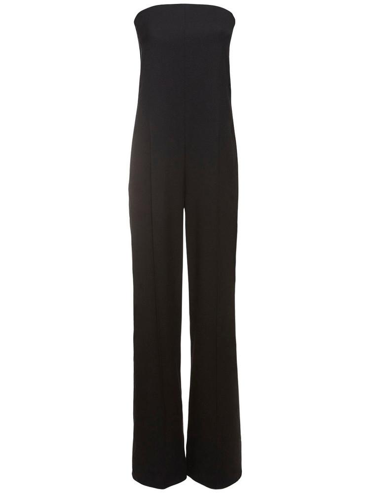 STELLA MCCARTNEY Straplesstailored Wool Jumpsuit in black