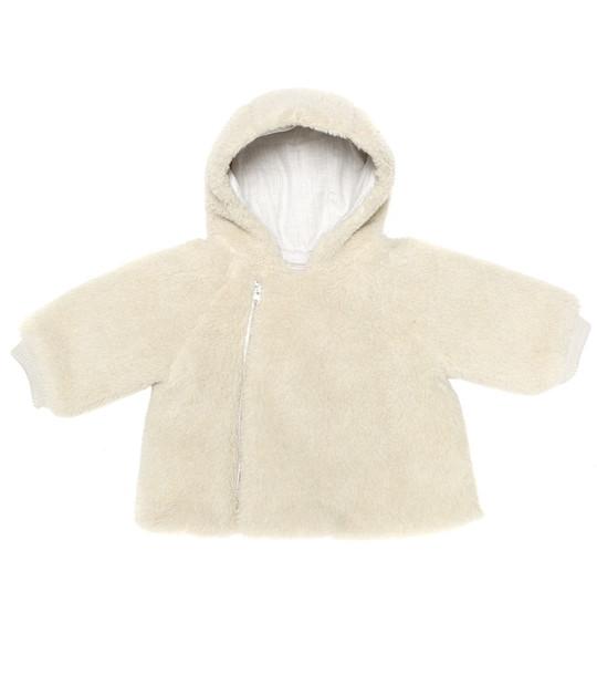 Bonpoint Baby teddy jacket in neutrals