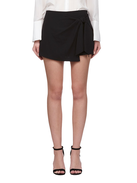 Alice + Olivia Alice + Olivia High Waist Mini Skirt in nero
