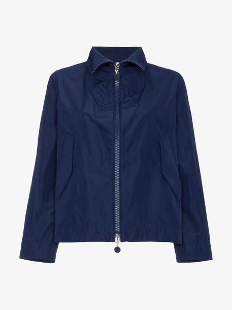 Moncler High Neck Cropped Jacket in blue