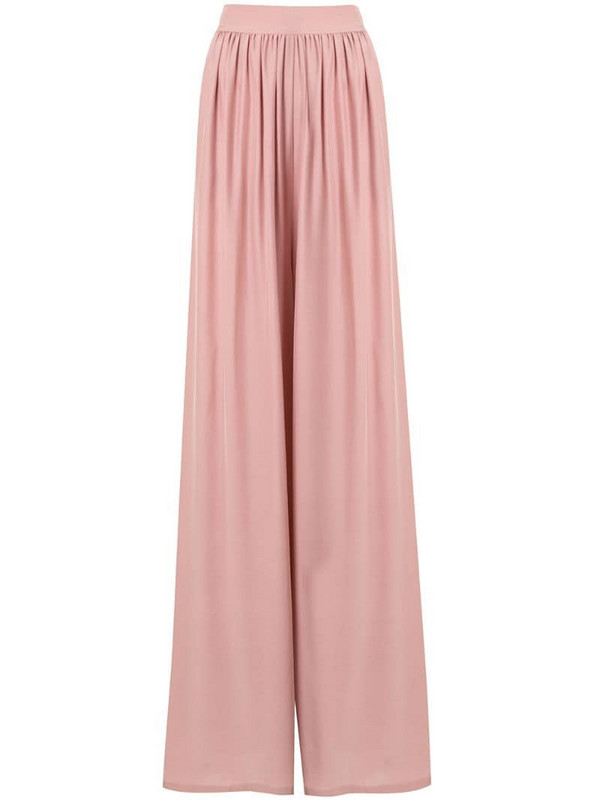Pour Les Femmes pleated palazzo trousers in pink