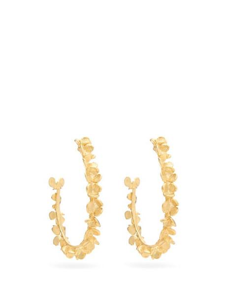 Elise Tsikis - Racine Gold-plated Hoop Earrings - Womens - Gold