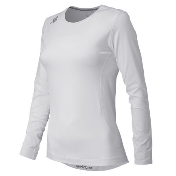 New Balance 708 Women's NB Long Sleeve Compression Top - White (TMWT708WT)