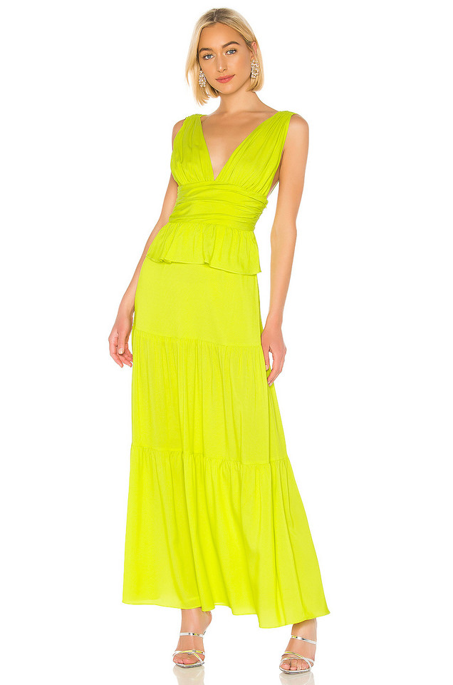 Cynthia Rowley Parker Maxi Dress in green