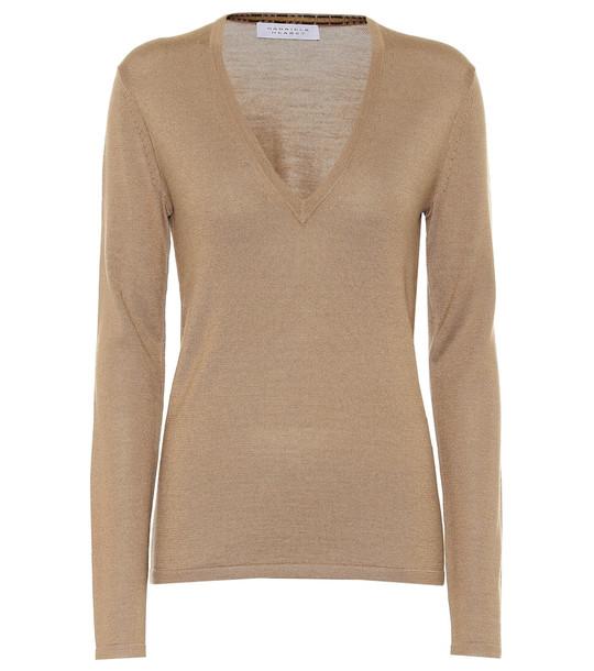 Gabriela Hearst Marian cashmere and silk sweater in beige