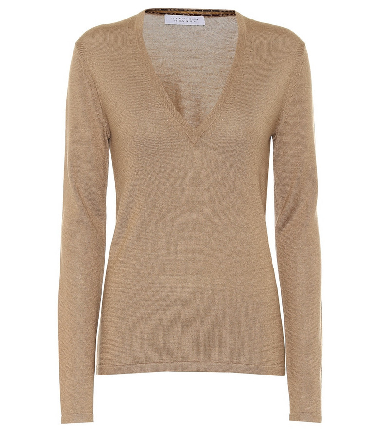 Gabriela Hearst Marian cashmere and silk sweater in beige