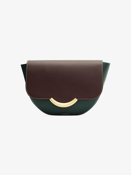 Wandler navy and burgundy Billy leather shoulder bag