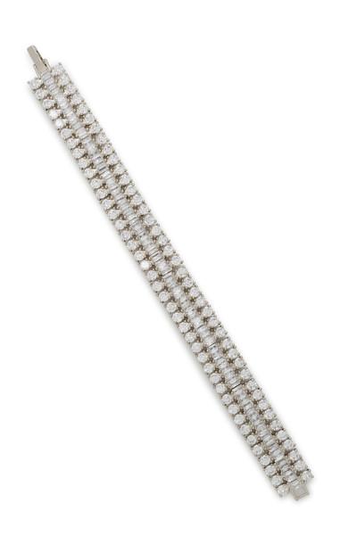 FALLON Rhodium And Crystal Bracelet