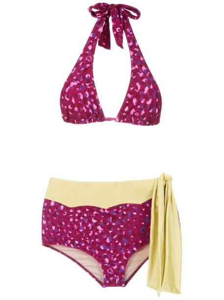 Adriana Degreas Pomegranate hot pants bikini set in pink