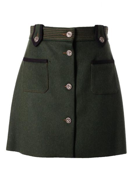 Miu Miu Button Up Skirt