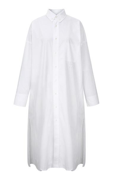 Vis a Vis Button Down Shirt Dress Size: 1 in white