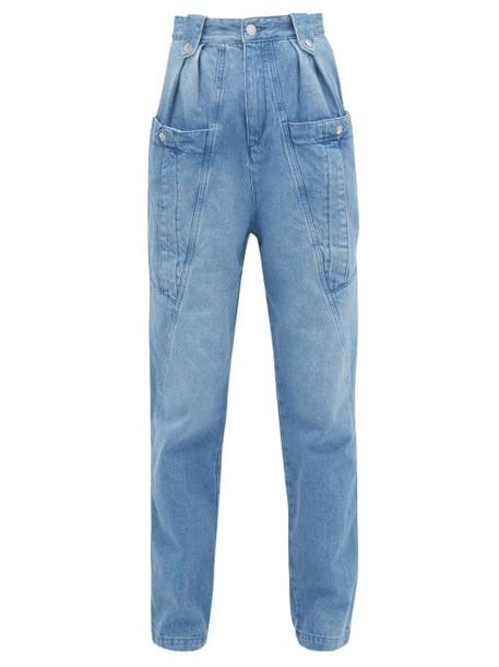 Isabel Marant - Kerris High-rise Tapered-leg Jeans - Womens - Light Denim