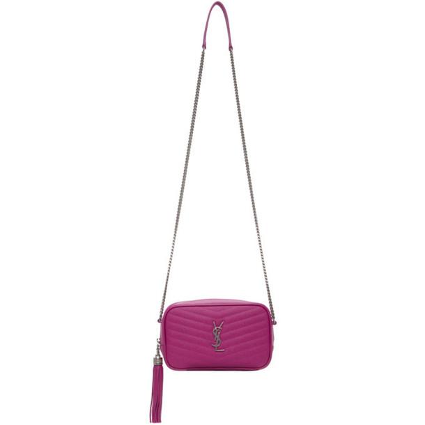 Saint Laurent Pink Mini Lou Chain Bag