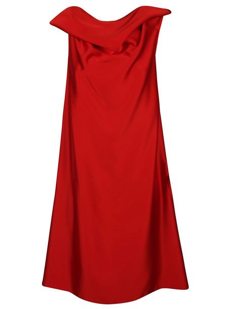 Neil Barrett Rear Zipped Dress in red
