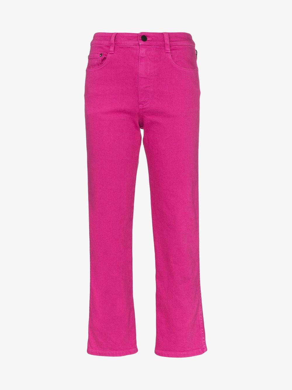 Simon Miller straight leg cropped jeans in pink