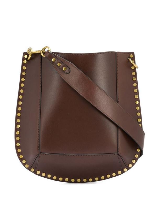 Isabel Marant stud-detail shoulder bag in brown